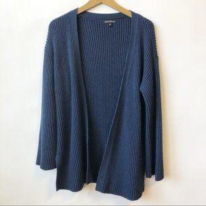 J.Crew Mercantil Blue Knit Open Cardigan Medium